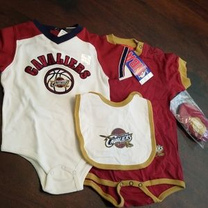 NBA Matching Sets - Cleveland Cavaliers Onesie Bundle 12 and 24 Month ef433e113